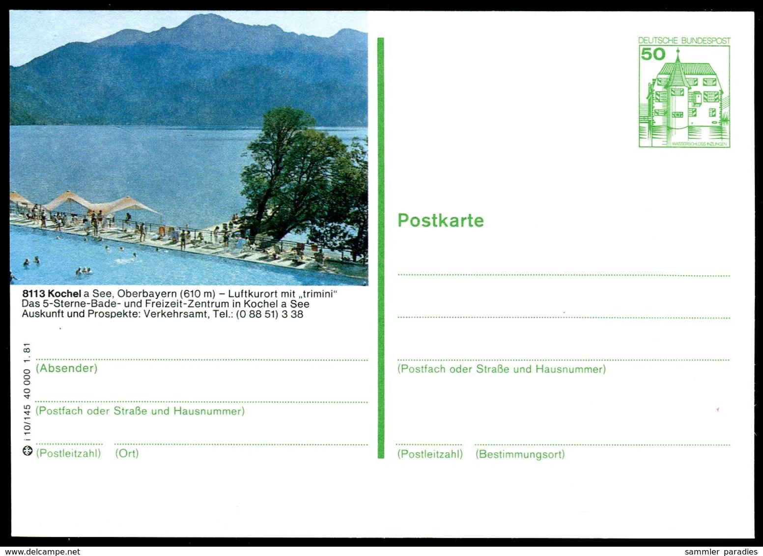 98627) BRD - P 134 - I10/145 - * Ungebraucht - 8113 Kochel - See Mit Berge - BRD