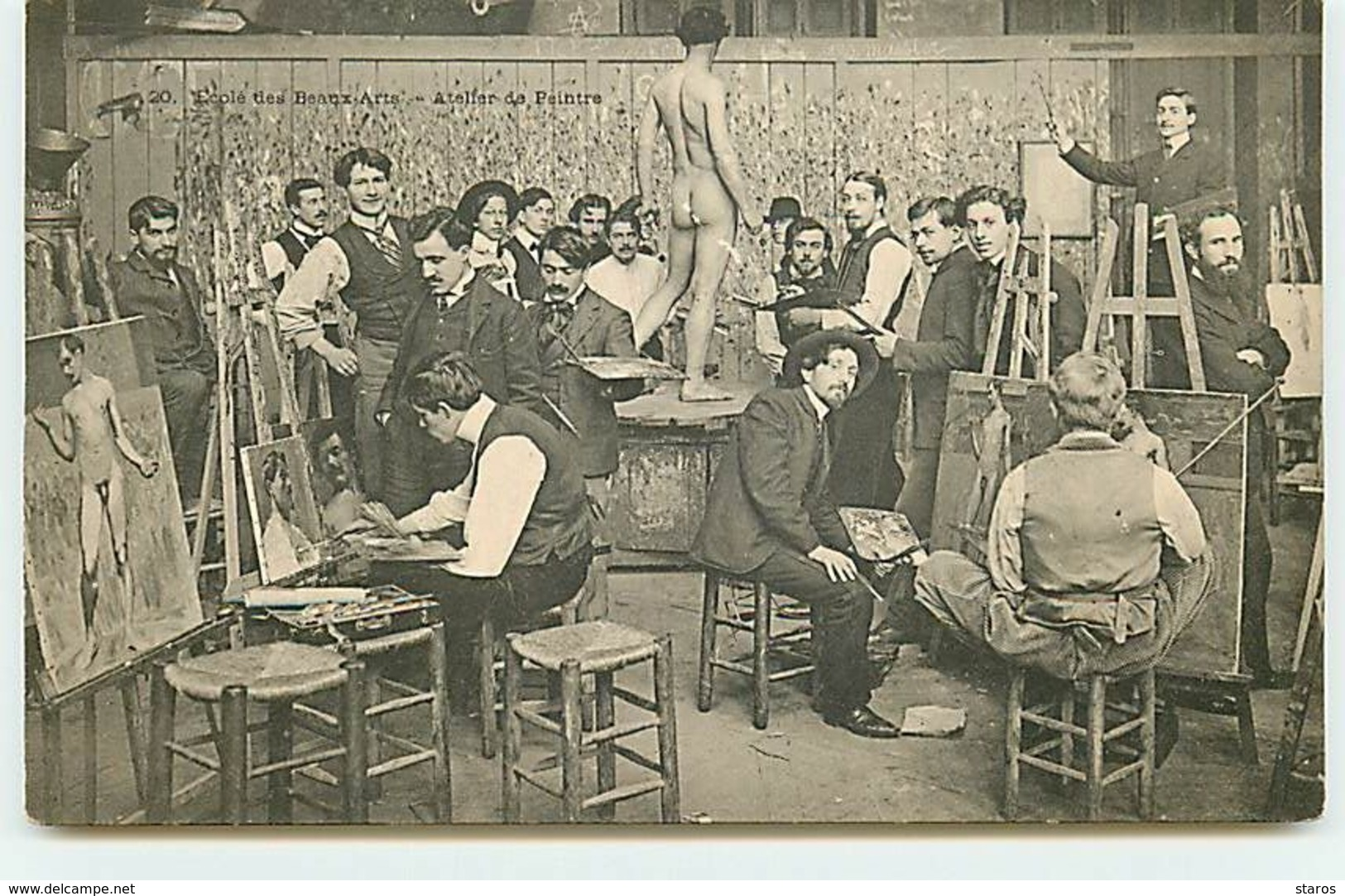 PARIS - Ecole Des Beaux-Arts - Atelier De Peintre - Nu Masculin - Onderwijs, Scholen En Universiteiten