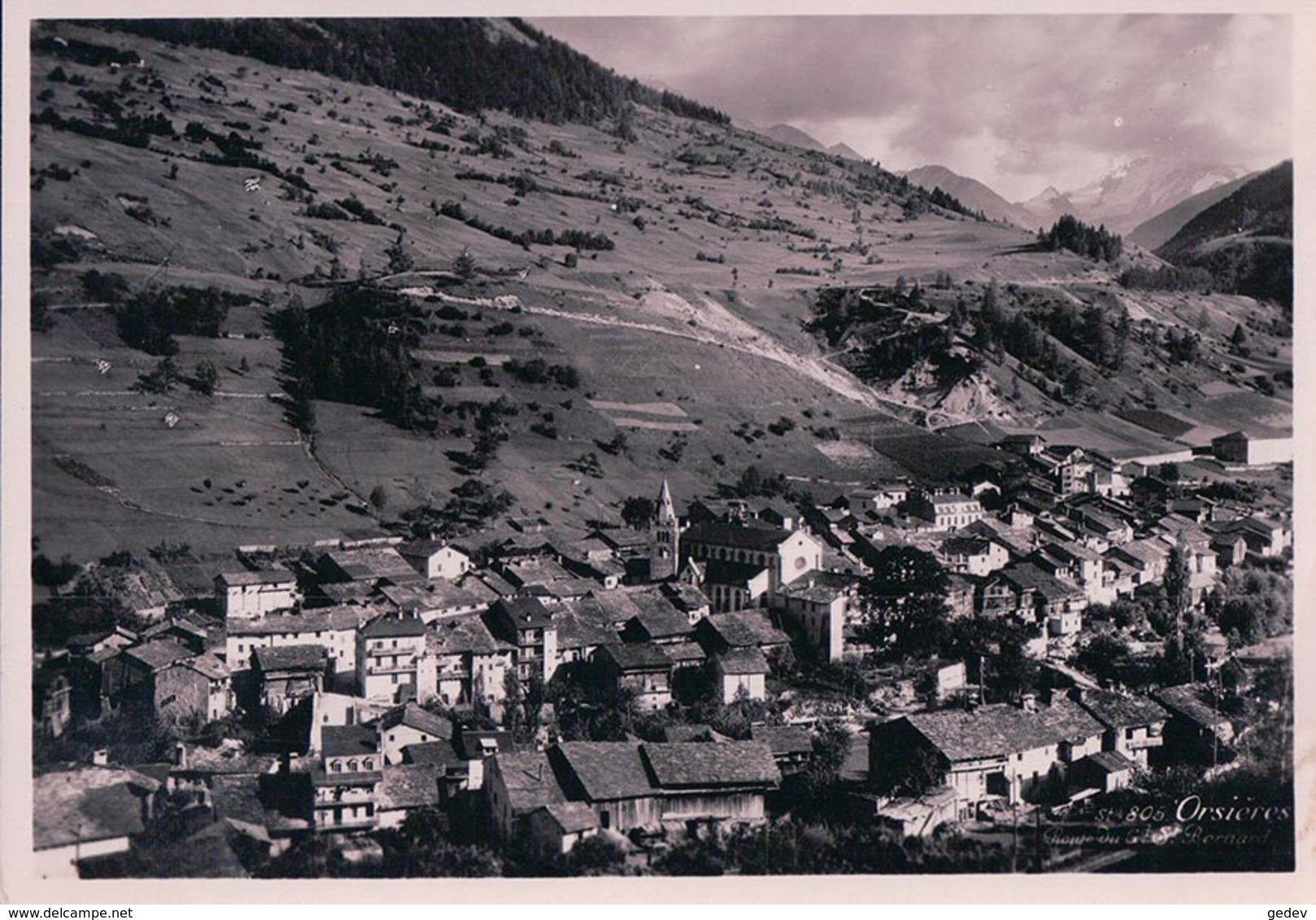 Orsières VS, Route Du St Bernard (805) 10x15 - VS Valais