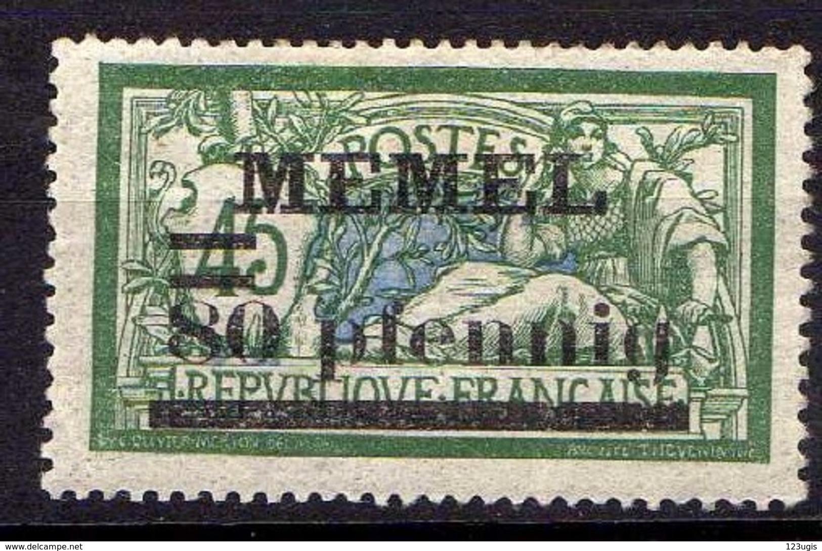 Memel (Klaipeda) 1920 Mi 25 B * [260819VII] - Memelgebiet