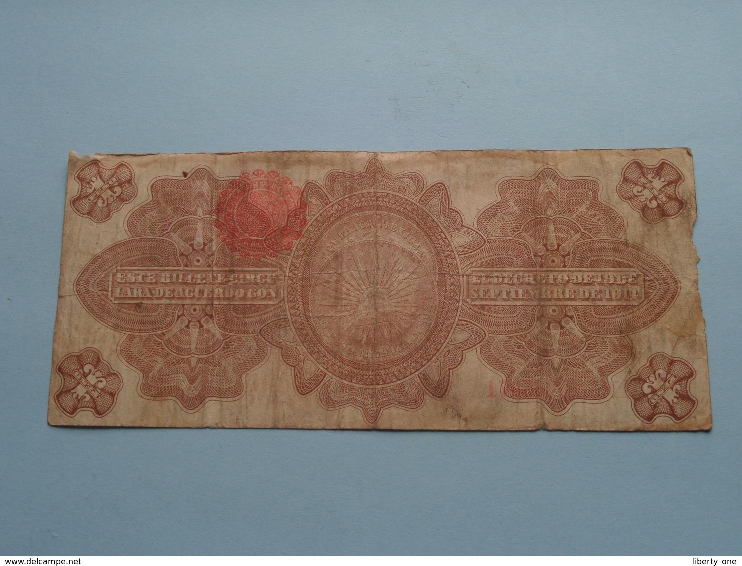 UN Peso 1 ( N° 10435071 ) Serie A - Militar 1914 - GOBIERNO Provisional De Mexico ( For Grade, Please See Photo ) ! - Mexique