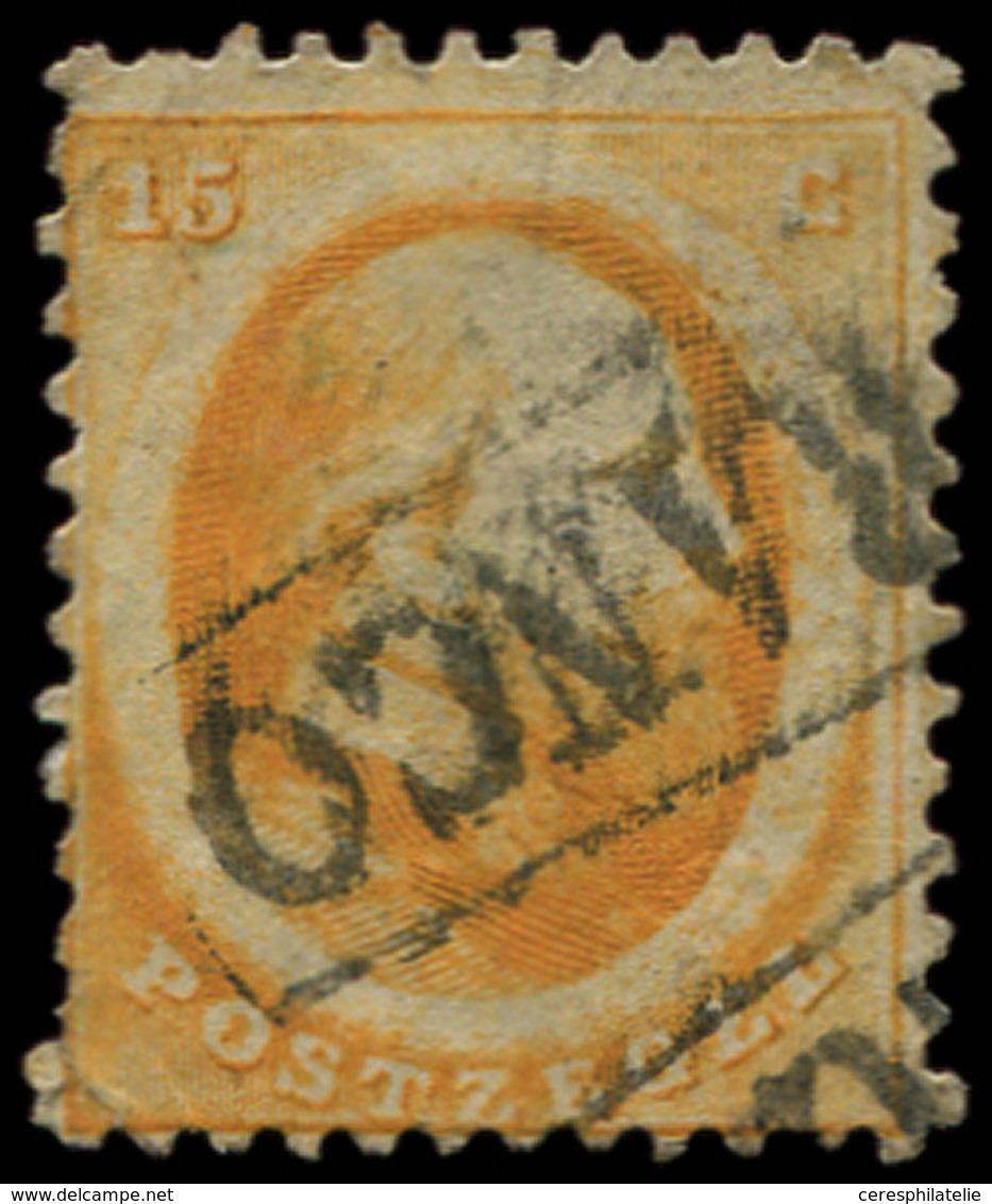 PAYS-BAS 6 : 15c. Orange, Obl., TB - Period 1852-1890 (Willem III)