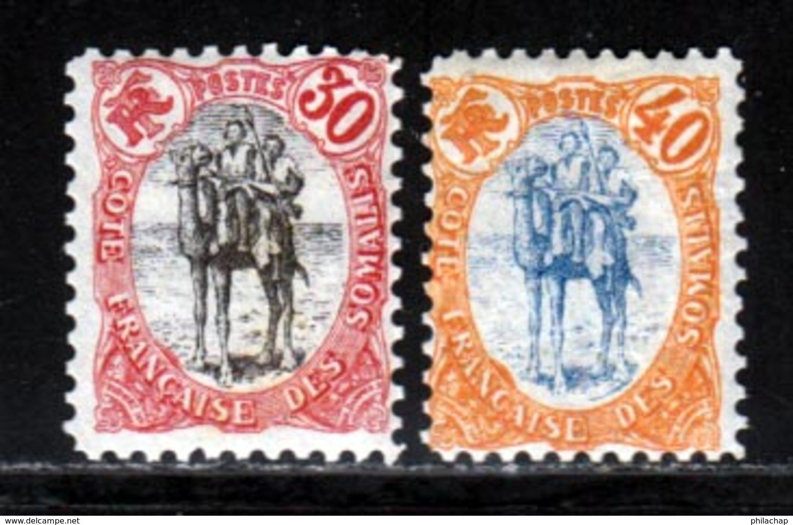 Cote Des Somalis 1902 Yvert 46 / 47 * TB Charniere(s) - Französich-Somaliküste (1894-1967)