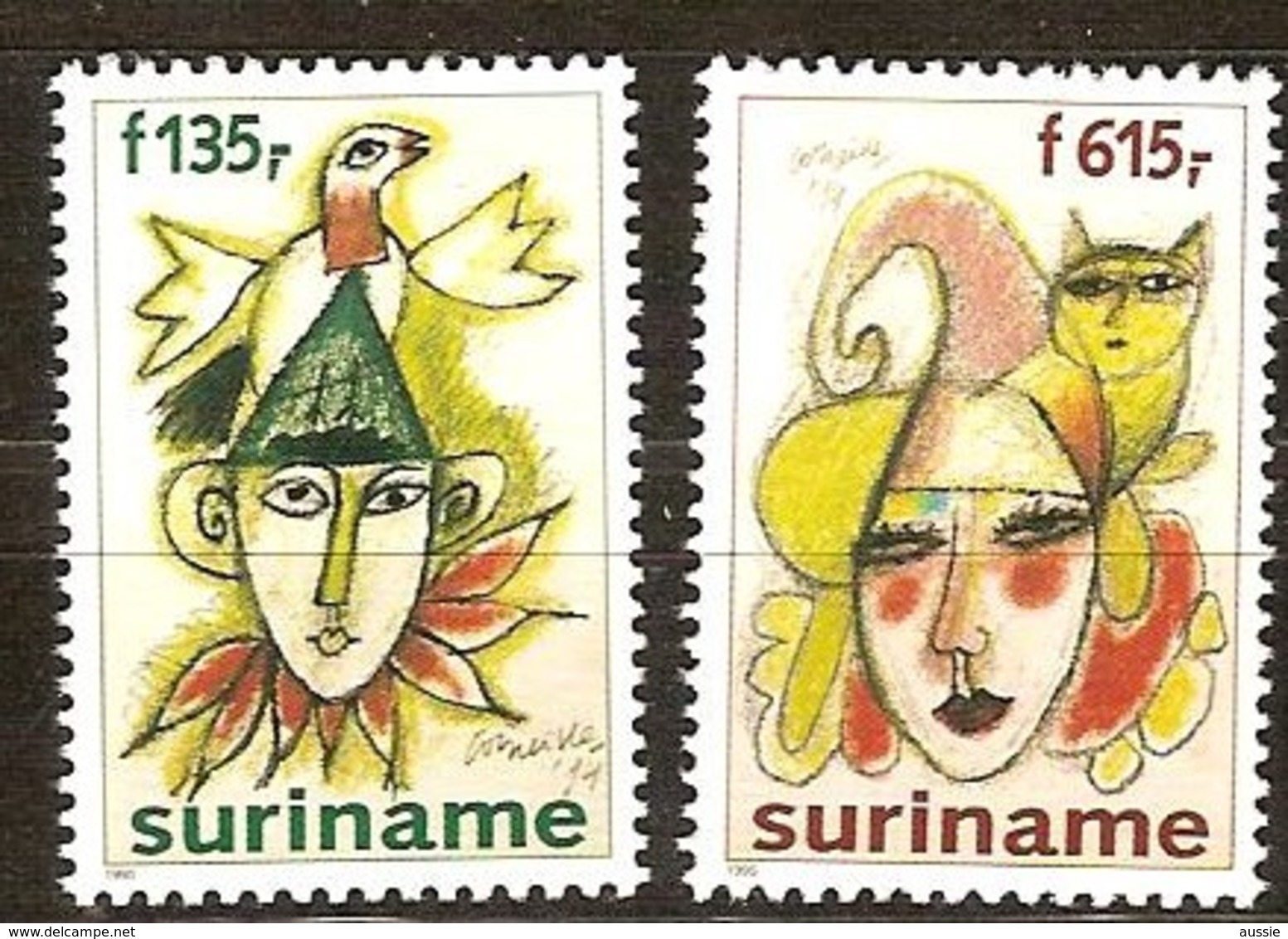 Suriname 1995 Yvertn° 1373-1374 *** MNH Cote 44 FF Le Carnaval - Surinam