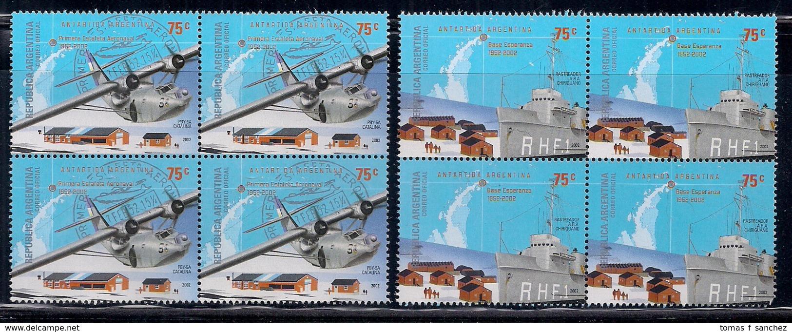 Argentina - 2002 - Antarctique Argentine - Base Esperanza - Premier Aéronef Estafeta En Antarctique. - Argentina