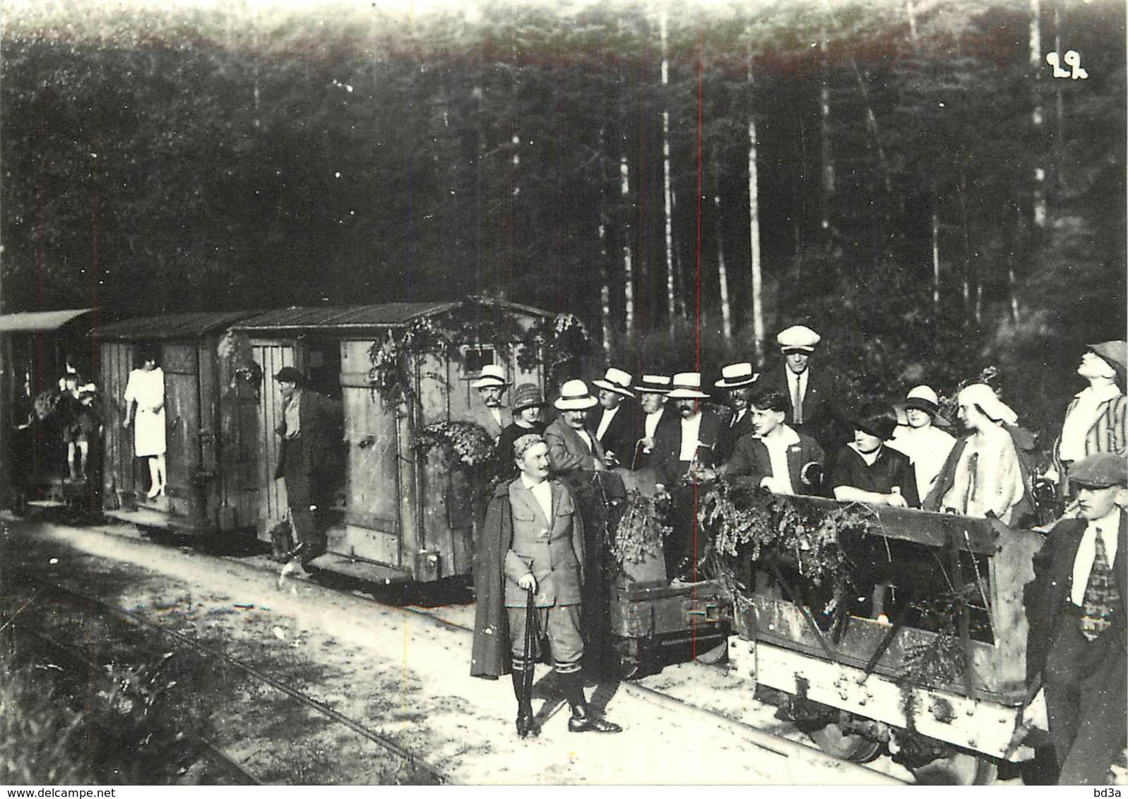 57 - CHEMIN DE FER D'ABRESCHVILLER VERS 1930 - REPRODUCTION - Other Municipalities