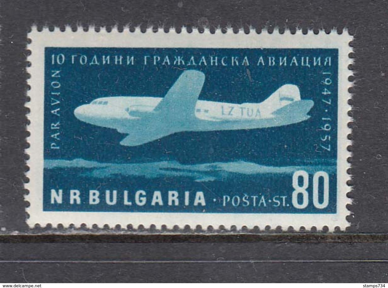 Bulgaria 1957 - 10 Years Of Civil Aviation In Bulgaria, Mi-Nr. 1027, MNH** - Unused Stamps