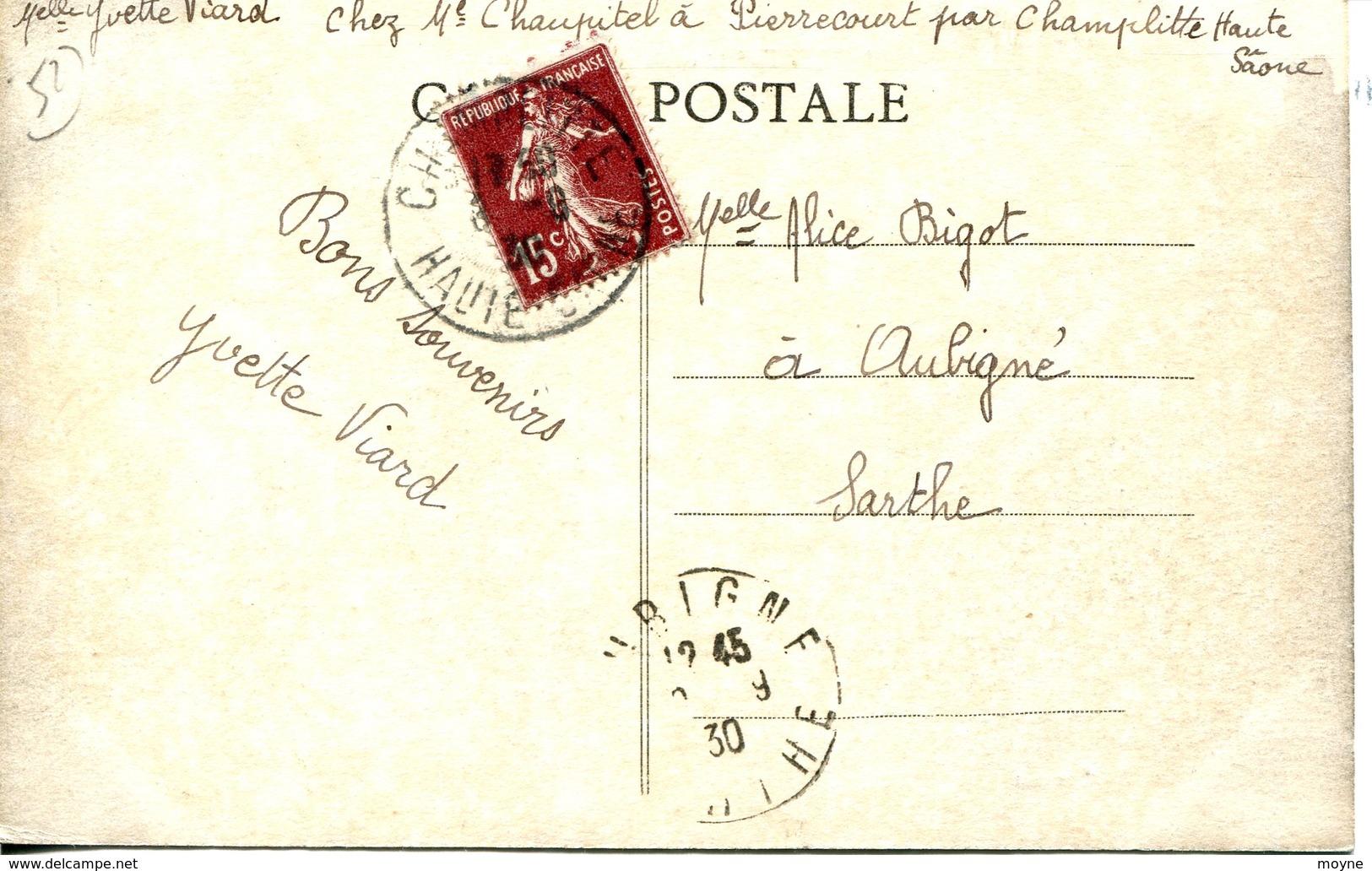 14160 - Hte Marne - FRETTES  :   RUE  DE  PIZOT   -  BELLE  ANIMATION  -- Circulée 1930 RARE - Other Municipalities