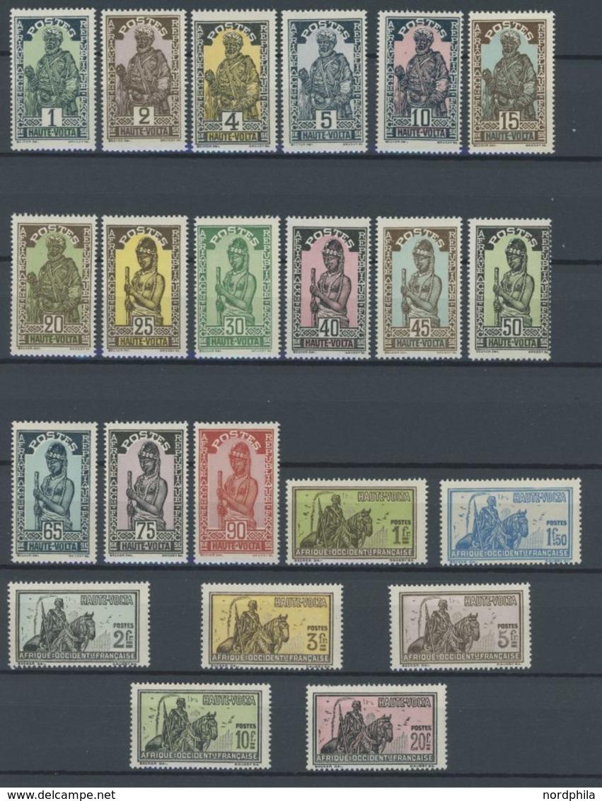 BURKINA FASO 43-65 **, 1928, Leben Der Haussa, Postfrischer Prachtsatz - Alto Volta (1920-1932)