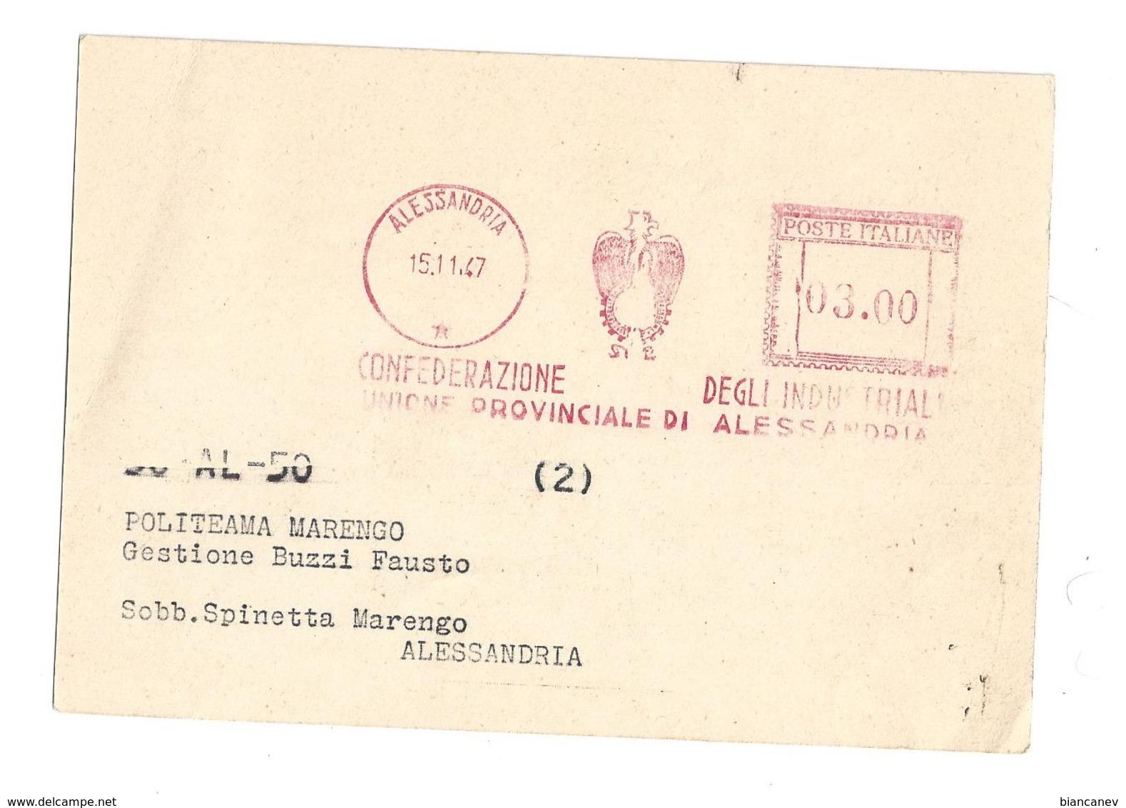 CARTOLINA DI ALESSANDRIA - 2 - Alessandria