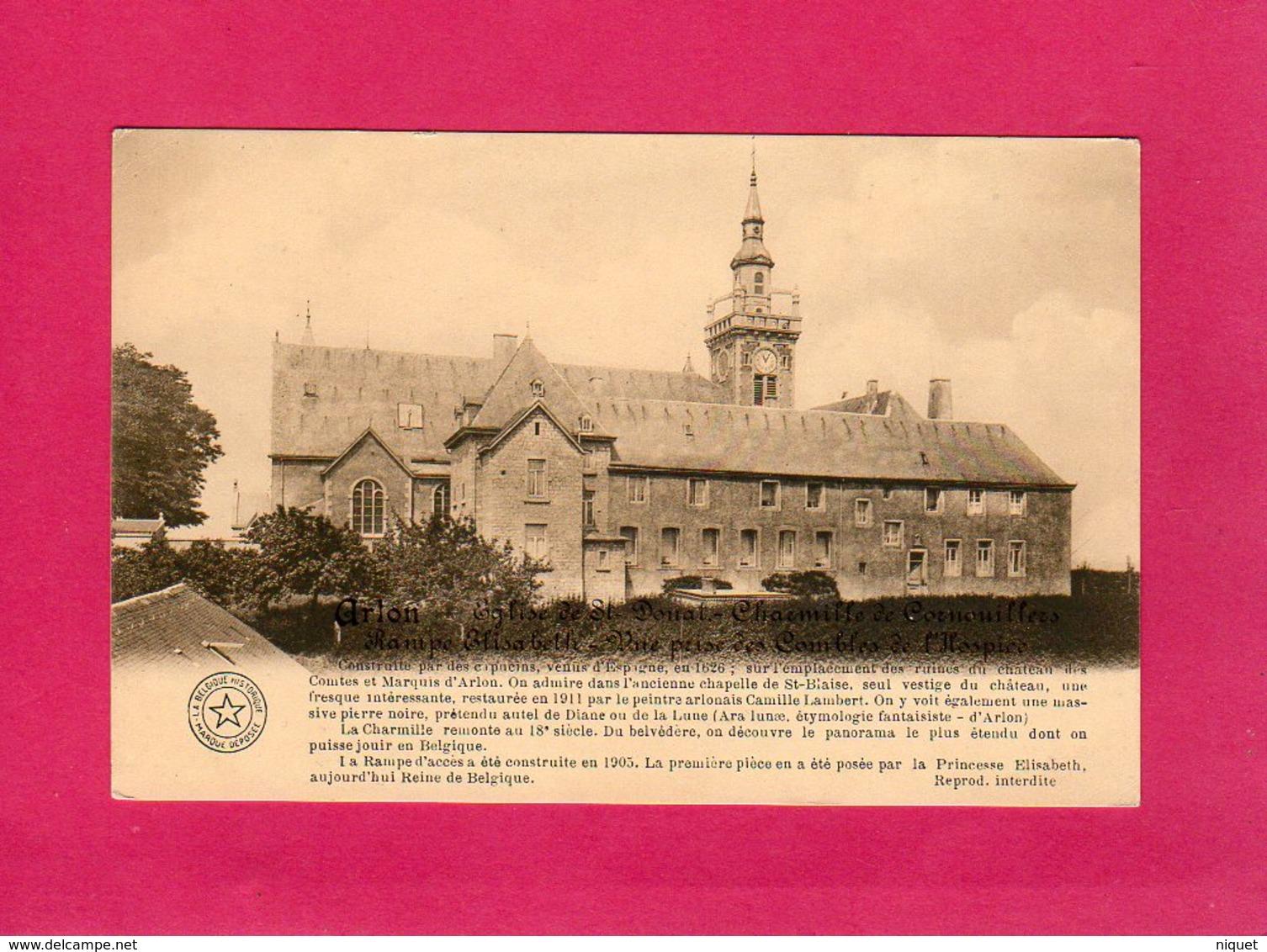 Belgique, Luxembourg, Arlon, Eglise De St Donal, Charmille De Cornouilles - Arlon