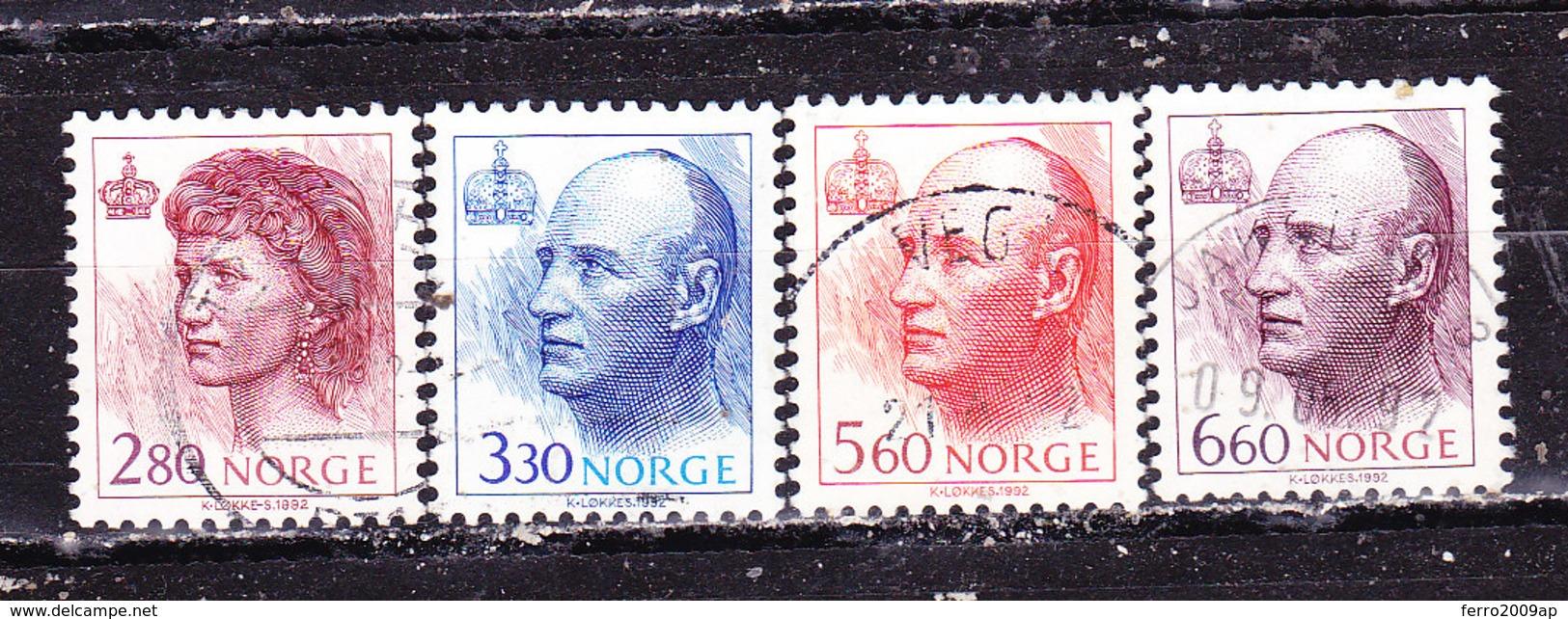 Norvegia 1992 Reali  -Serie Completa Usata - Norwegen