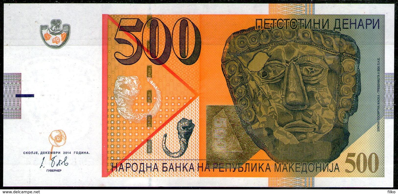 Macedonia,500 Denari,2014, A:gold Masc( VIc.BC),O:flower Of Poppy,UNC,as Scan - Macedonia