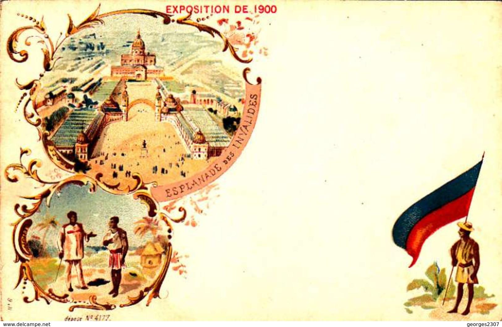 *CPA: EXPOSITION UNIVERSELLE 1900-ESPLANADE DES INVALIDES- RECTO - LITHOGRAPHIE - 1900 – Paris (Frankreich)