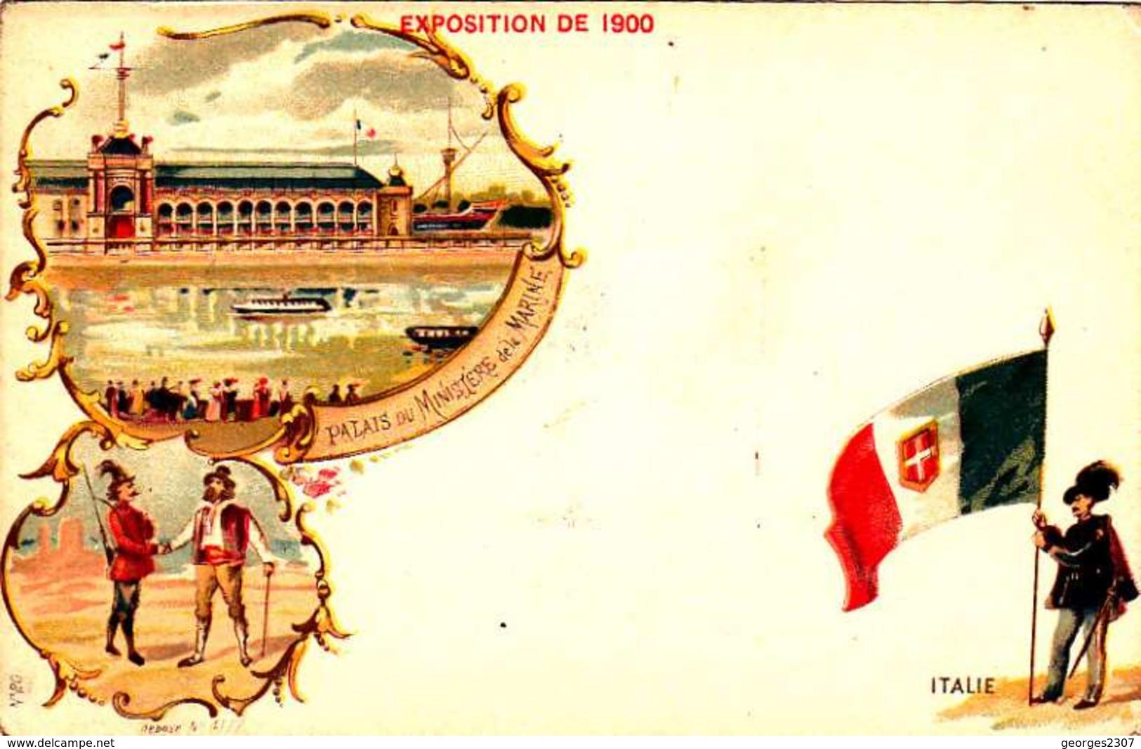 *CPA: EXPOSITION UNIVERSELLE 1900-ITALIE- RECTO - LITHOGRAPHIE - 1900 – Paris (Frankreich)