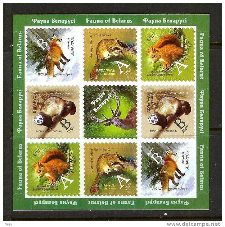 Belarus 2007 Fauna Animals Fox Deer Squirrel Polecat - Belarus