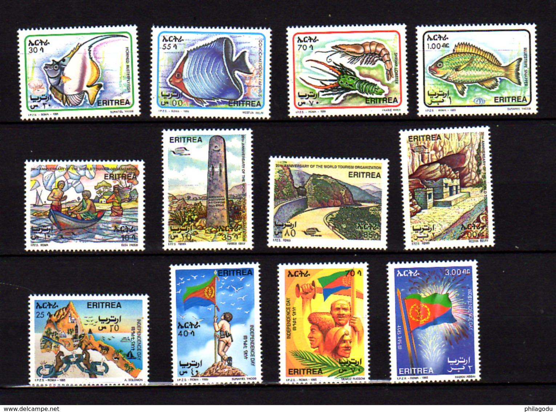 Erythrée 1995, Poissons, Vues, 250 / 257 – 266 / 269**, Cote 16 € - Eritrea