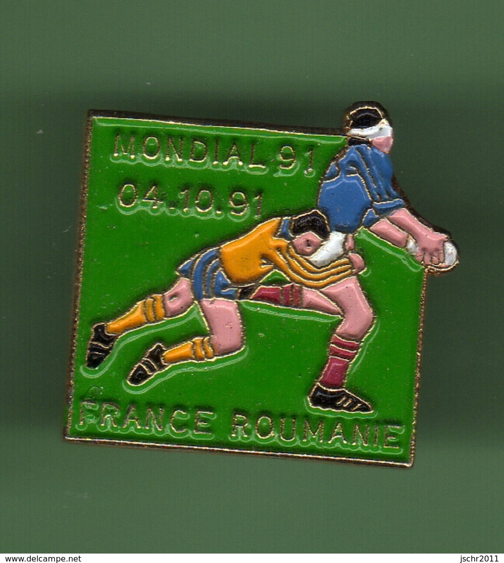 RUGBY *** MONDIAL 91 FRANCE - ROUMANIE *** 1042 (80) - Rugby