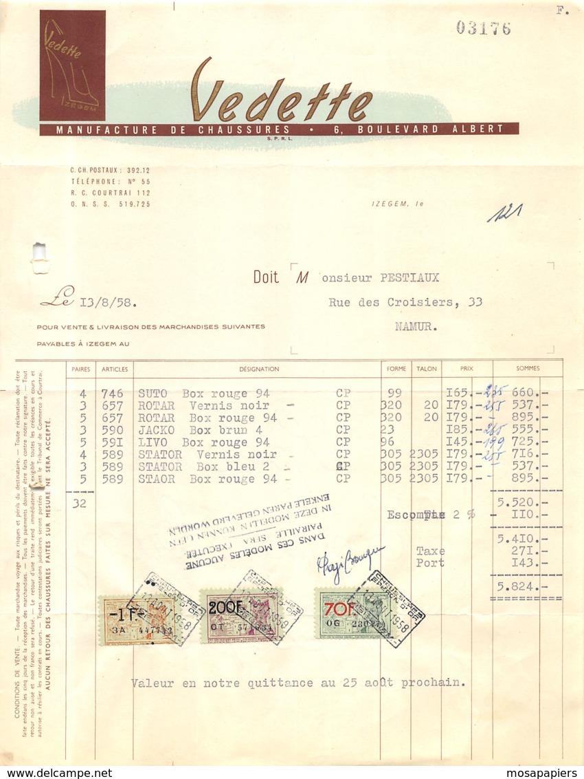 """IZEGEM - Manufacture De Chaussures """"VEDETTE"""" - Belgique"""