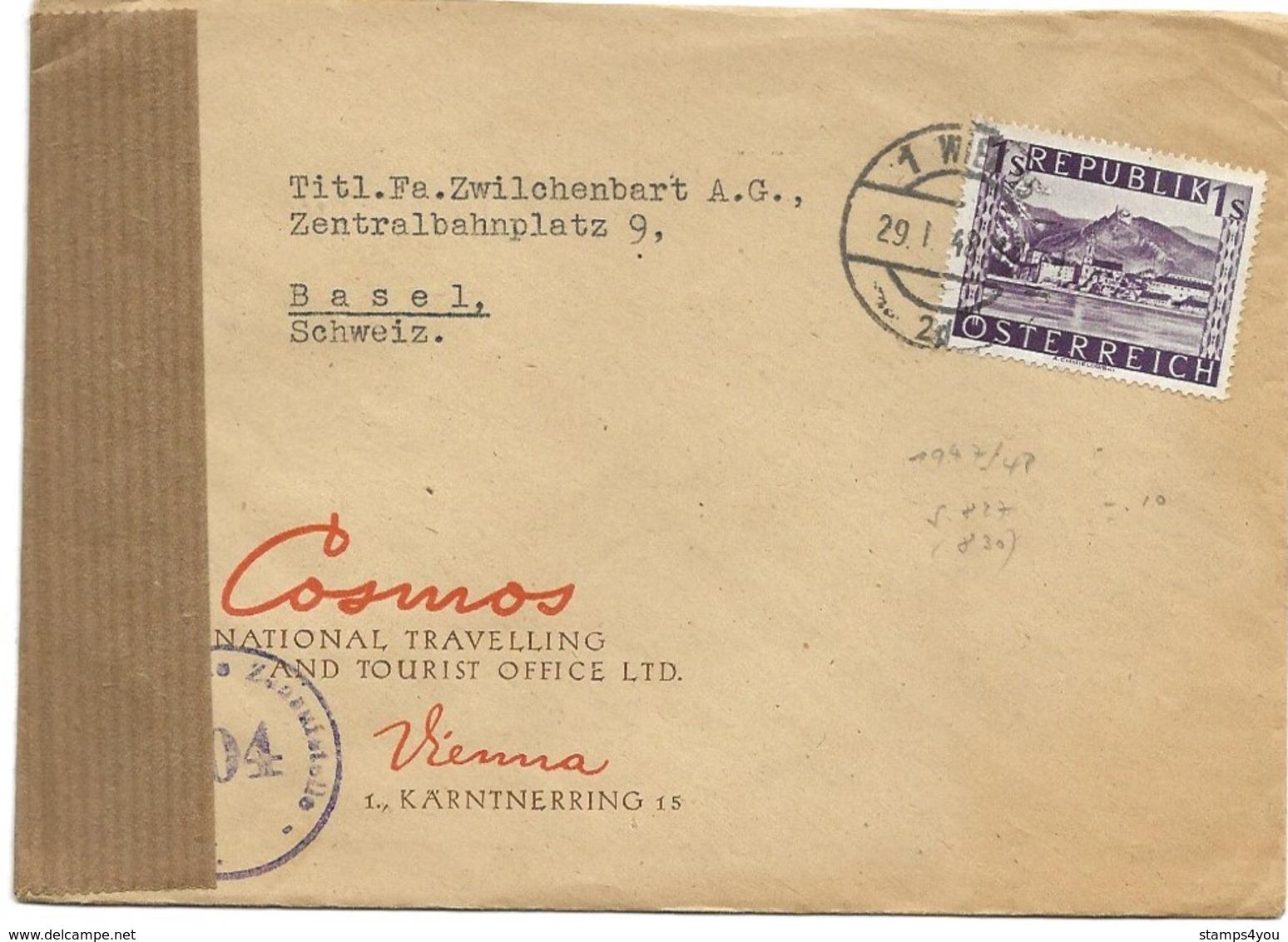 150 - 29 - Enveloppe Envoyée De Vienne  En Suisse 1948 - Censure - 1945-.... 2. Republik