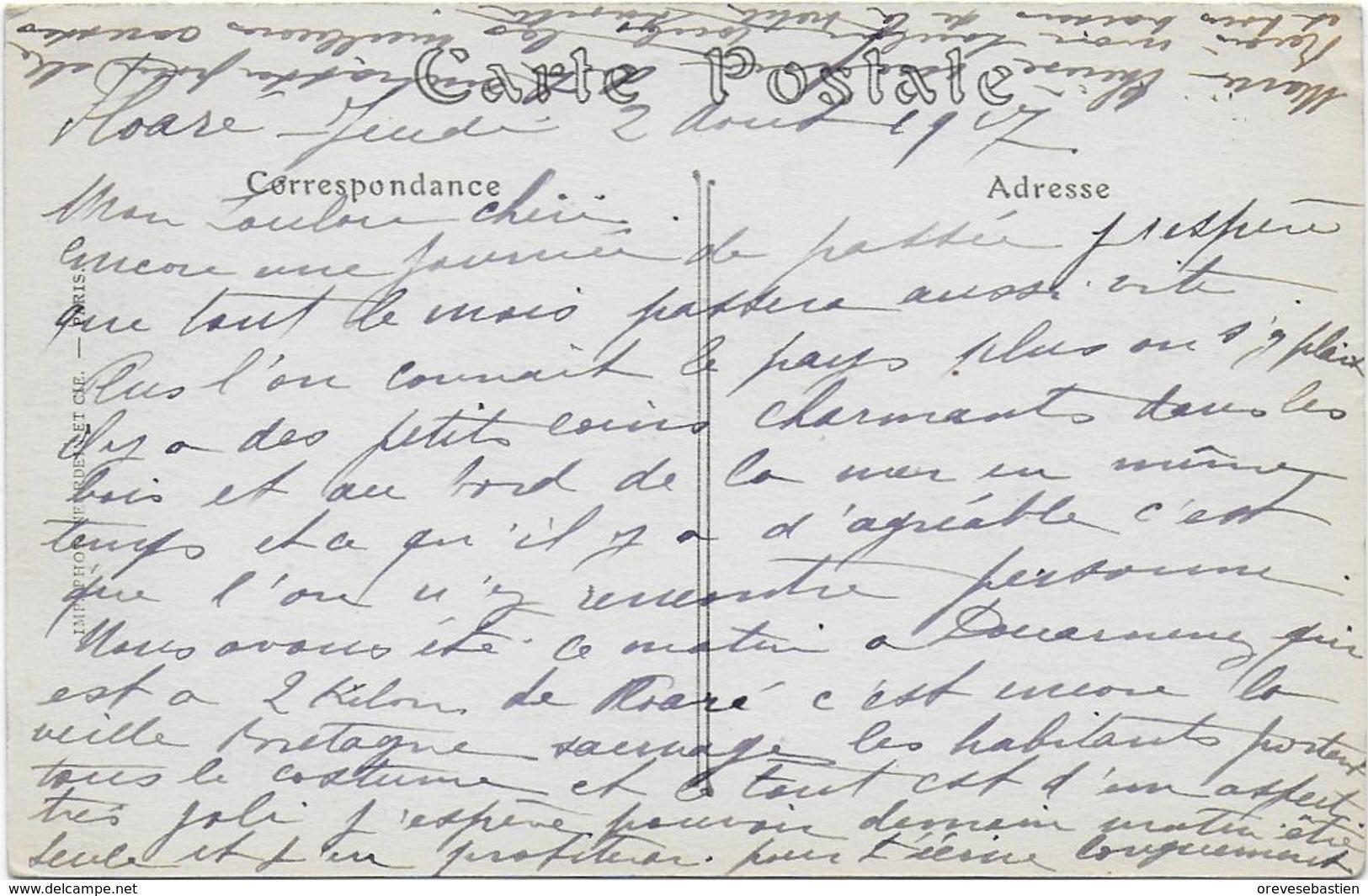 CPA - BEUZEC - PRES DOUARNENEZ - ROCHERS DE CASTEL AR COS - ND 189 - Beuzec-Cap-Sizun