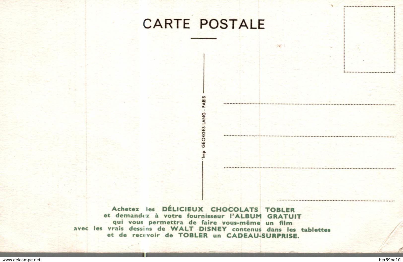 CARTE POSTALE PUBLICITAIRE CHOCOLATS TOBLER  WALT-DISNEY NAF-NAF - Disney