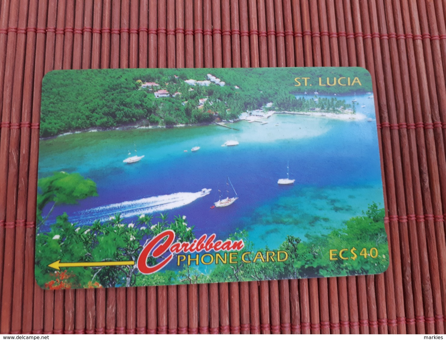 Phonecard ST-Lucia  Number 137CSLB Used Some Sratches On Card Not Perfect Rare - Santa Lucía
