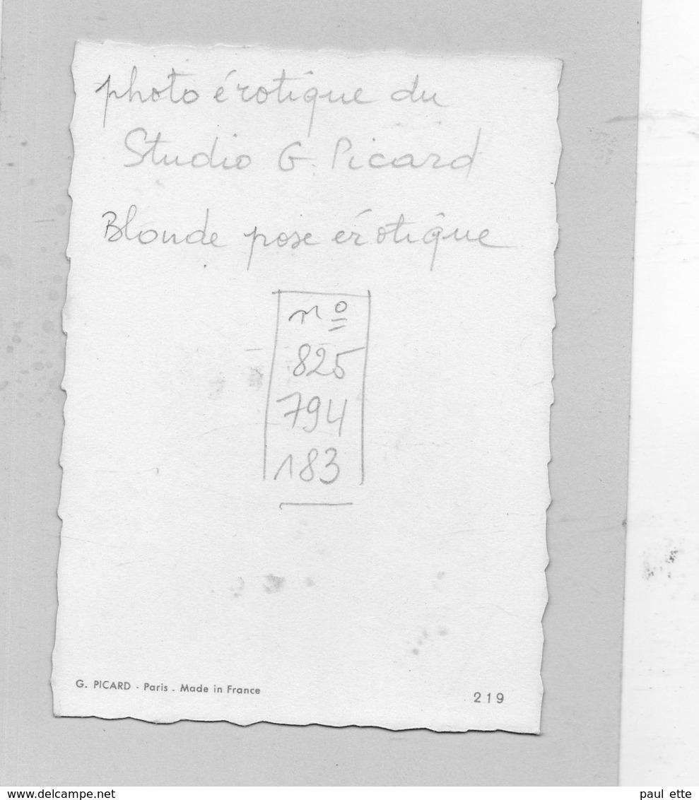 CPA - Photo érotique Du Studio G. Picard , Collection 219 : Femme Blonde NUE , Pose Artistique, Couleur Vintage, 1950 ? - Fotografie