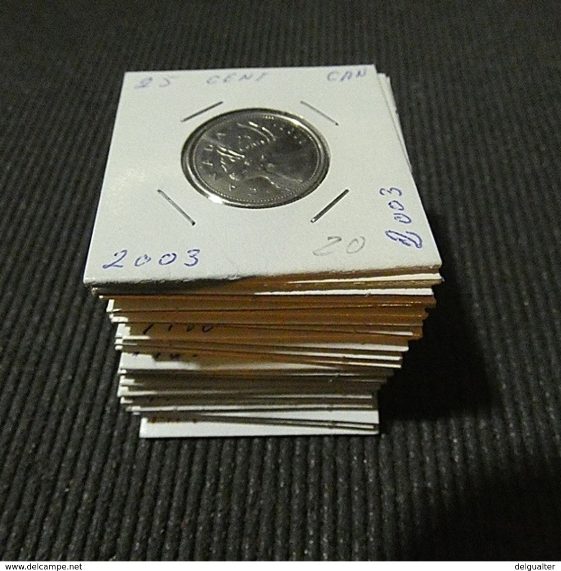 Canada 23 Coins 25 Cents Different Dates - Kilowaar - Munten
