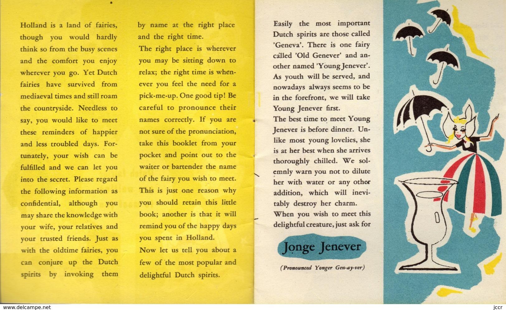 Dutch Fairies Are Waiting To Meet You - Published By Centraal Gedistilleerdbureau Schiedam (Holland) - 1957 - Cuisine, Plats Et Vins