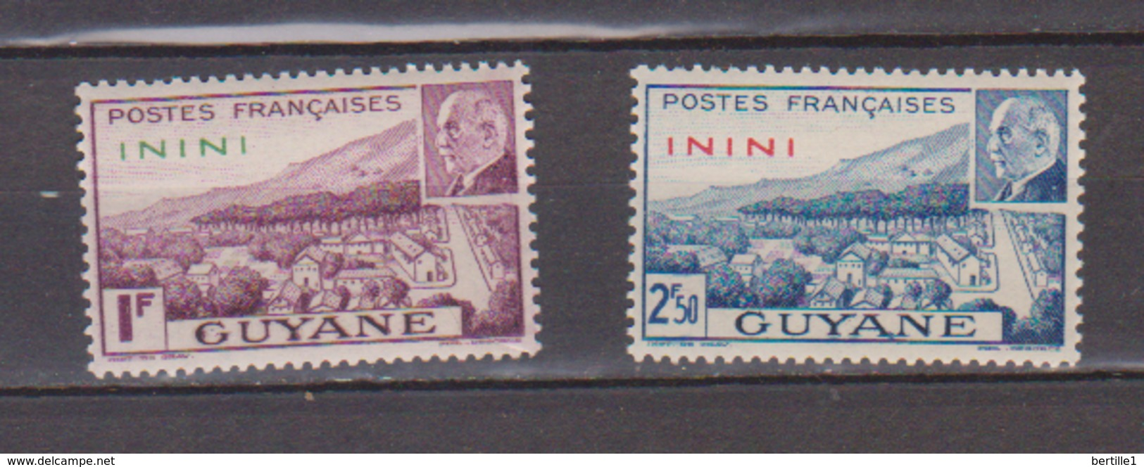 ININI          N°  YVERT  :    51/52        NEUF AVEC  CHARNIERES      ( 02/38   ) - Inini (1932-1947)