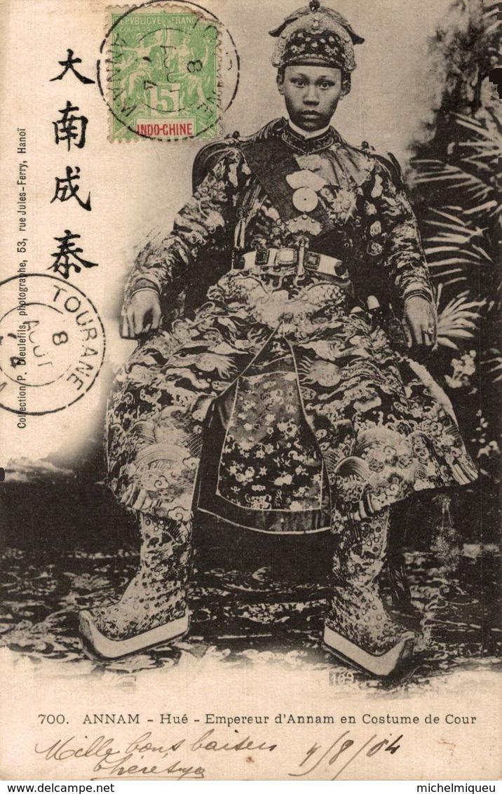 8772-2019   INDOCHINE COCHINCHINE  ANNAM HUE EMPEREUR D ANNAM EN COSTUME DE COUR - Vietnam