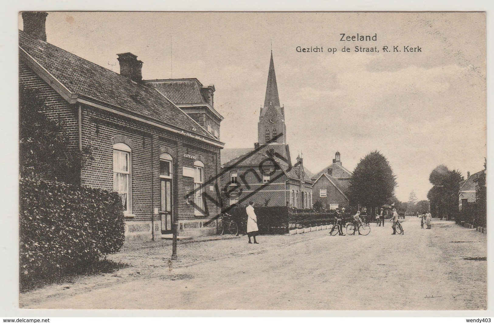 Zeeland - Gezicht Op De Straat, R.K. Kerk - Pays-Bas