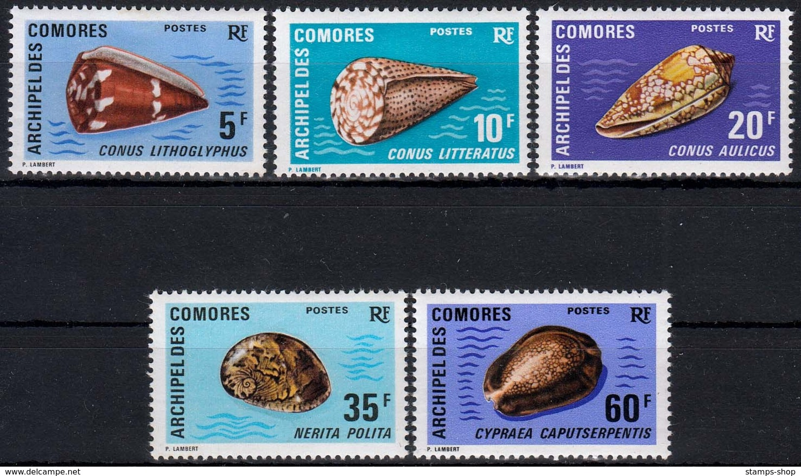 Komoren MiNr. 129/33 ** Meeresschnecken - Komoren (1975-...)