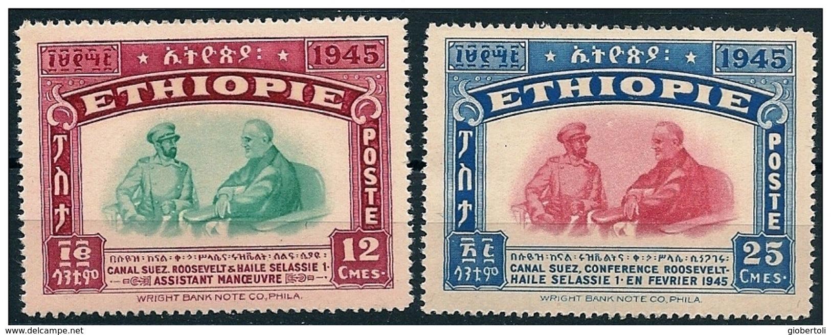 Etiopia/Ethiopie: Franklin Delano Roosevelt, Hailé Selassié - Celebrità
