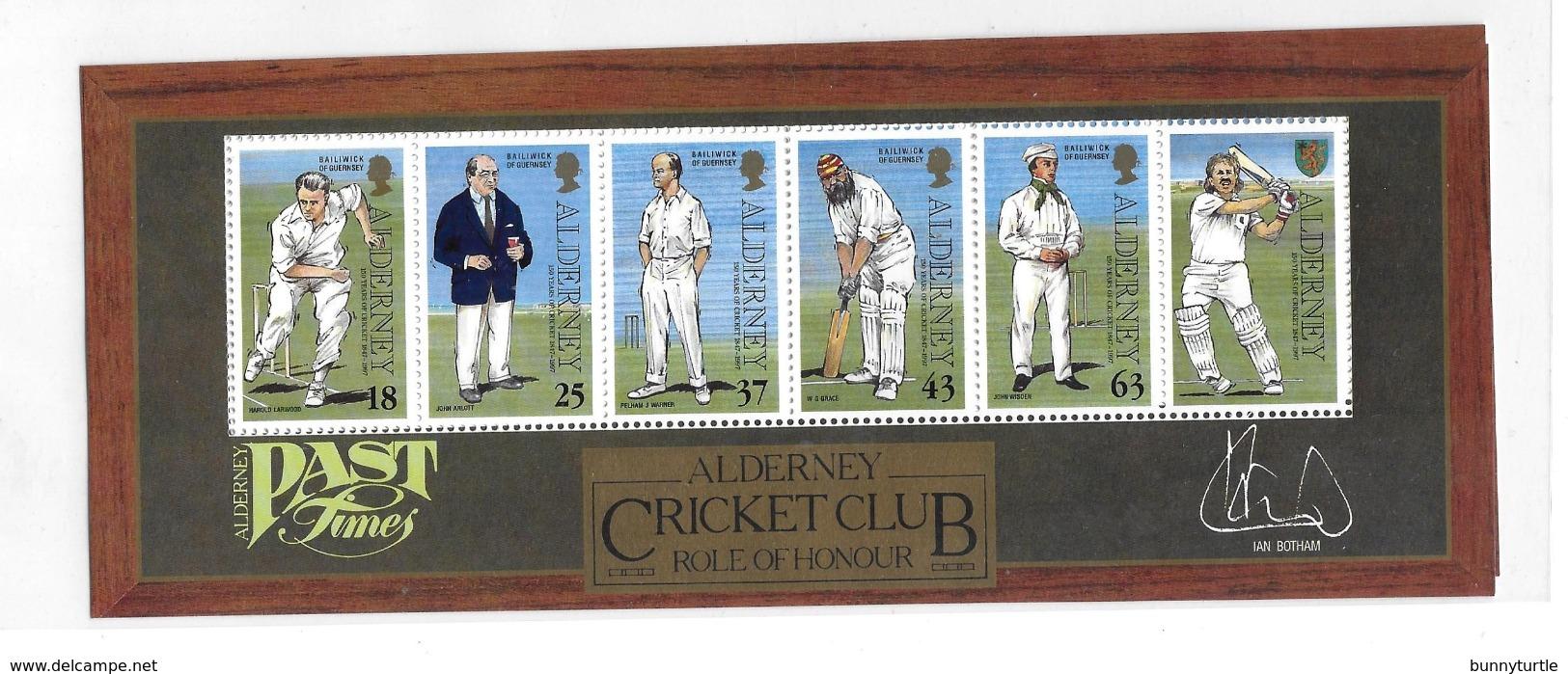 Alderney 1997 Alderney Cricket Club 150th Anniversary Sheet MNH - Alderney