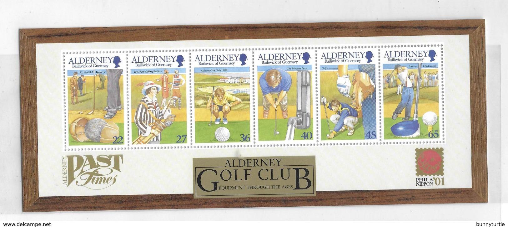 Alderney 2001 Alderney Golf Club Sheet MNH - Alderney