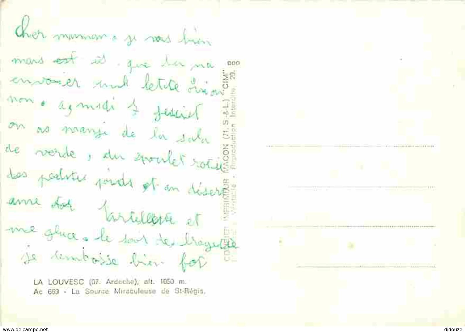 07 - La Louvesc - La Source Miraculeuse De St-Régis - Voir Scans Recto-Verso - La Louvesc