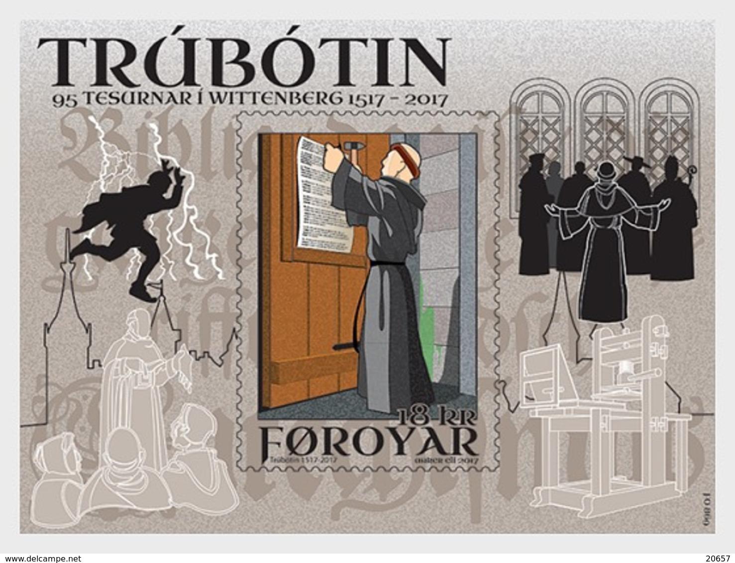 DANMARK Foroyar 0900 Et Feuillet, Martin Luther, Trubotin - Teologi