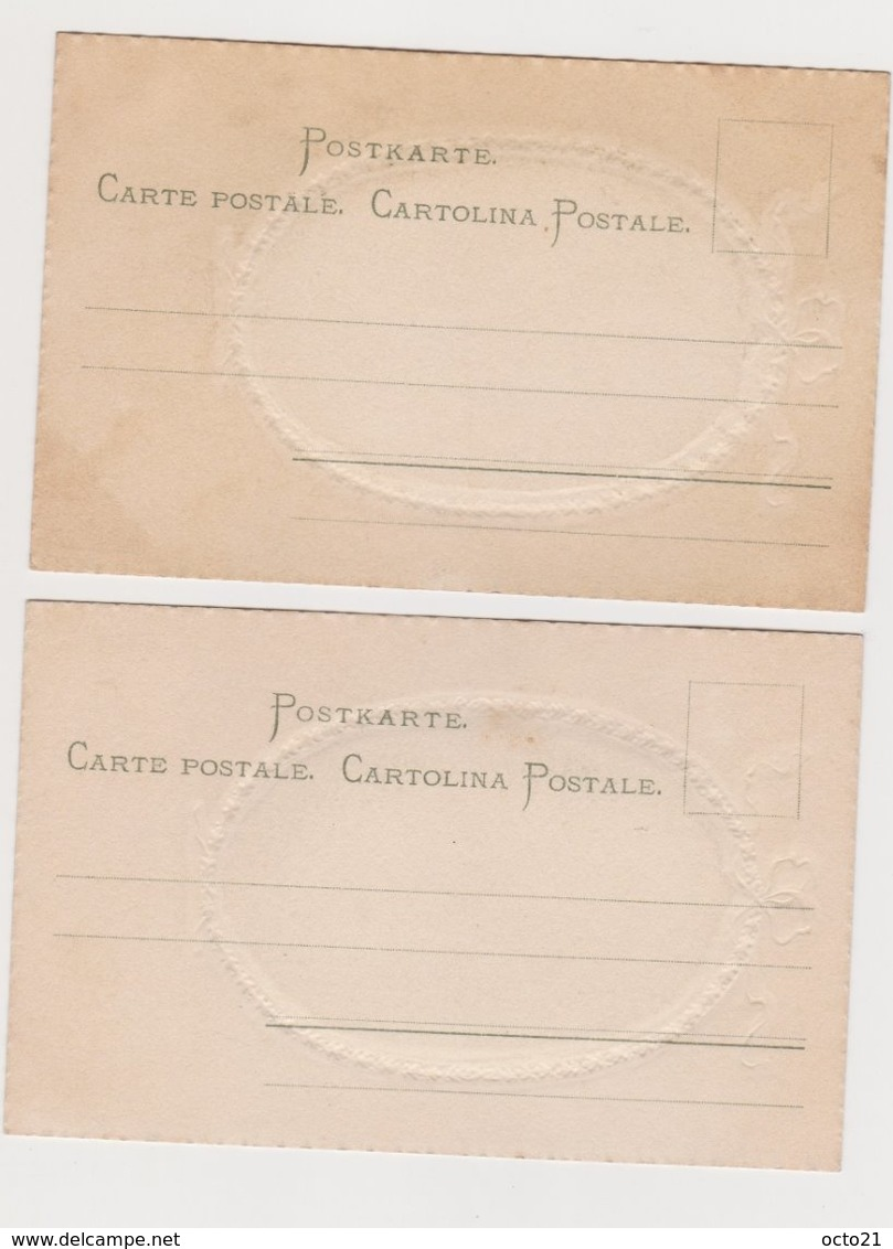 2 Cartes Fantaisie  / Marchande De Fleurs ; Serveuse Dans Une Auberge - Métiers