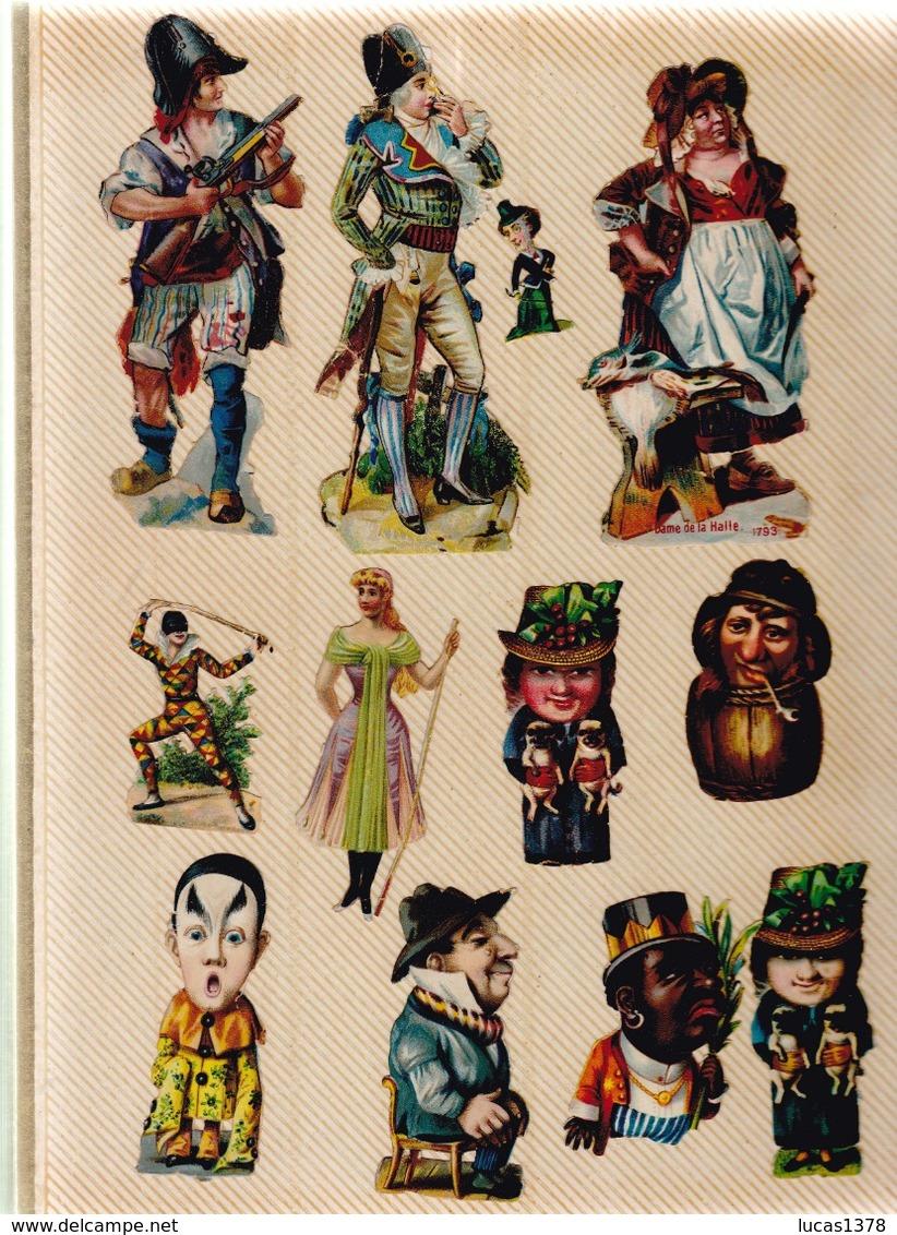TRES BEL ALBUM DE PLUS DE 540 DECOUPIS DONT RARES - Albums & Katalogus