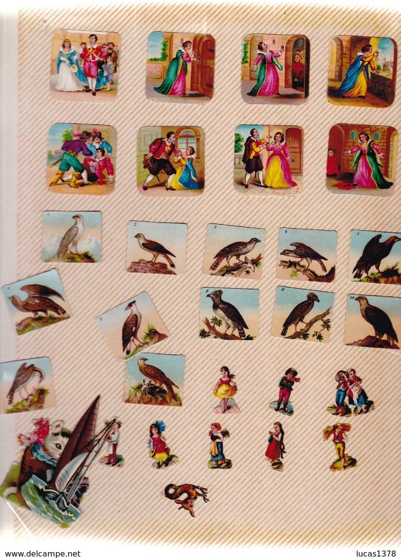 TRES BEL ALBUM DE PLUS DE 540 DECOUPIS DONT RARES - Sammelbilderalben & Katalogue