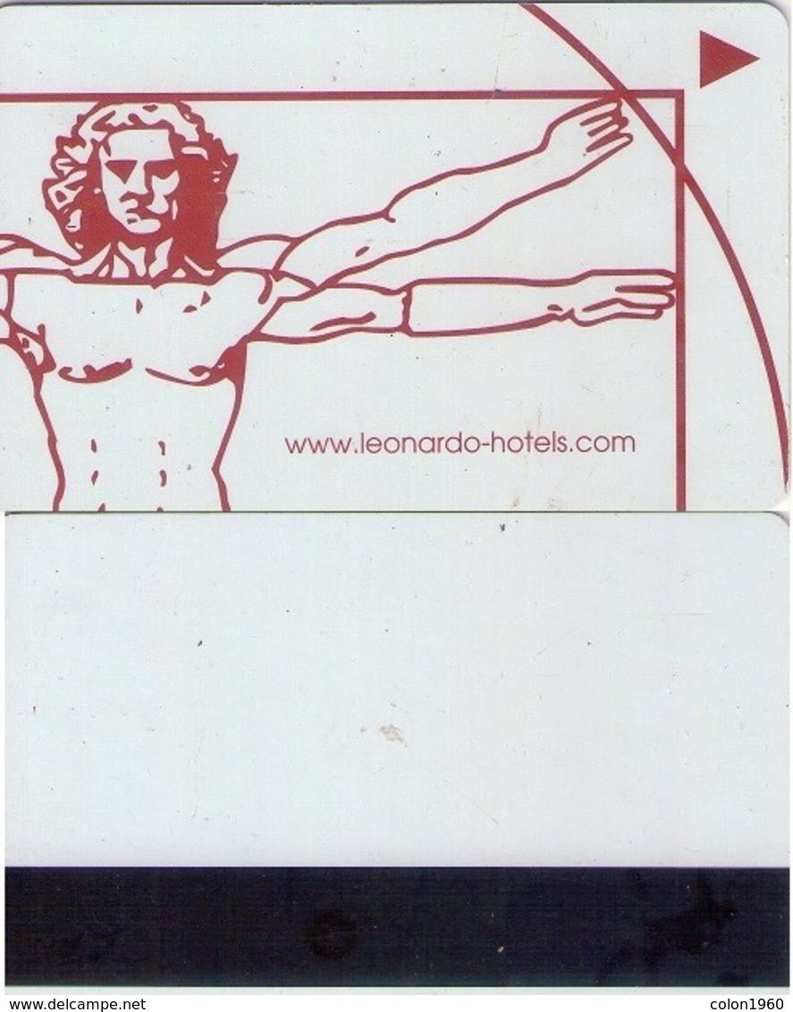 HOTEL KEY CARD. LEONARDO HOTELS. (Leonardo Da Vinci, Uomo Vitruviano) (020). - Hotelkarten
