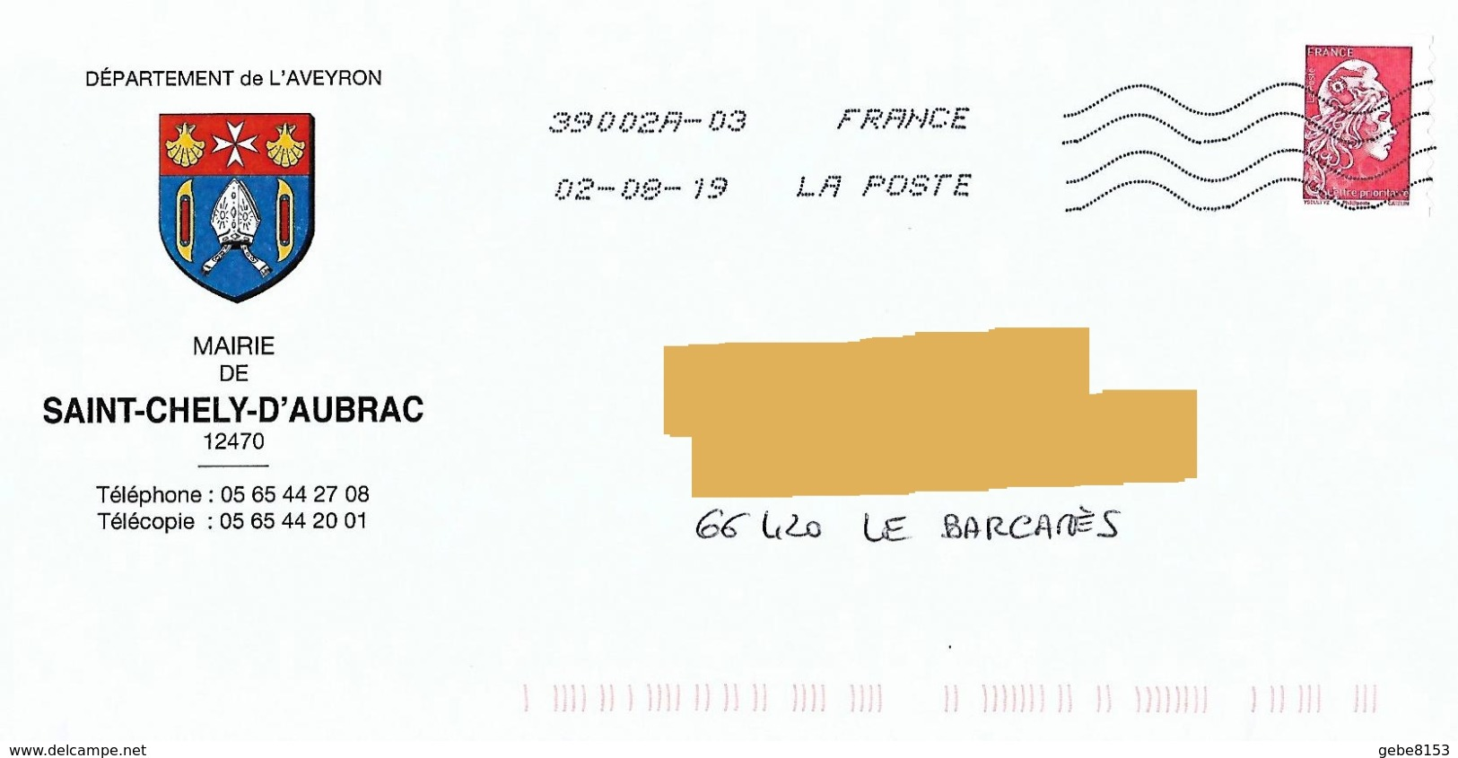 Blason Mairie St Chély D'Aubrac Aveyron Coqiolle Saint Jacques Croix Malte Mitre Toshiba - Covers