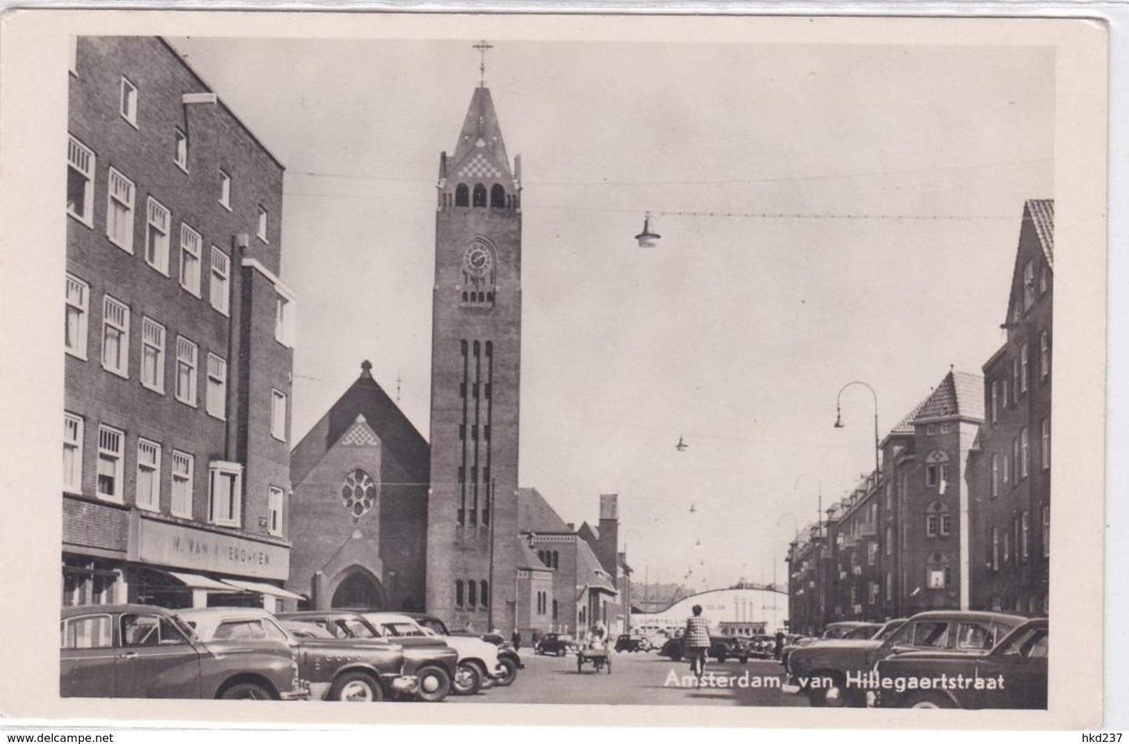 Amsterdam Hillegaertstraat Oude Auto's Bakfiets Oude RAI    1752 - Amsterdam