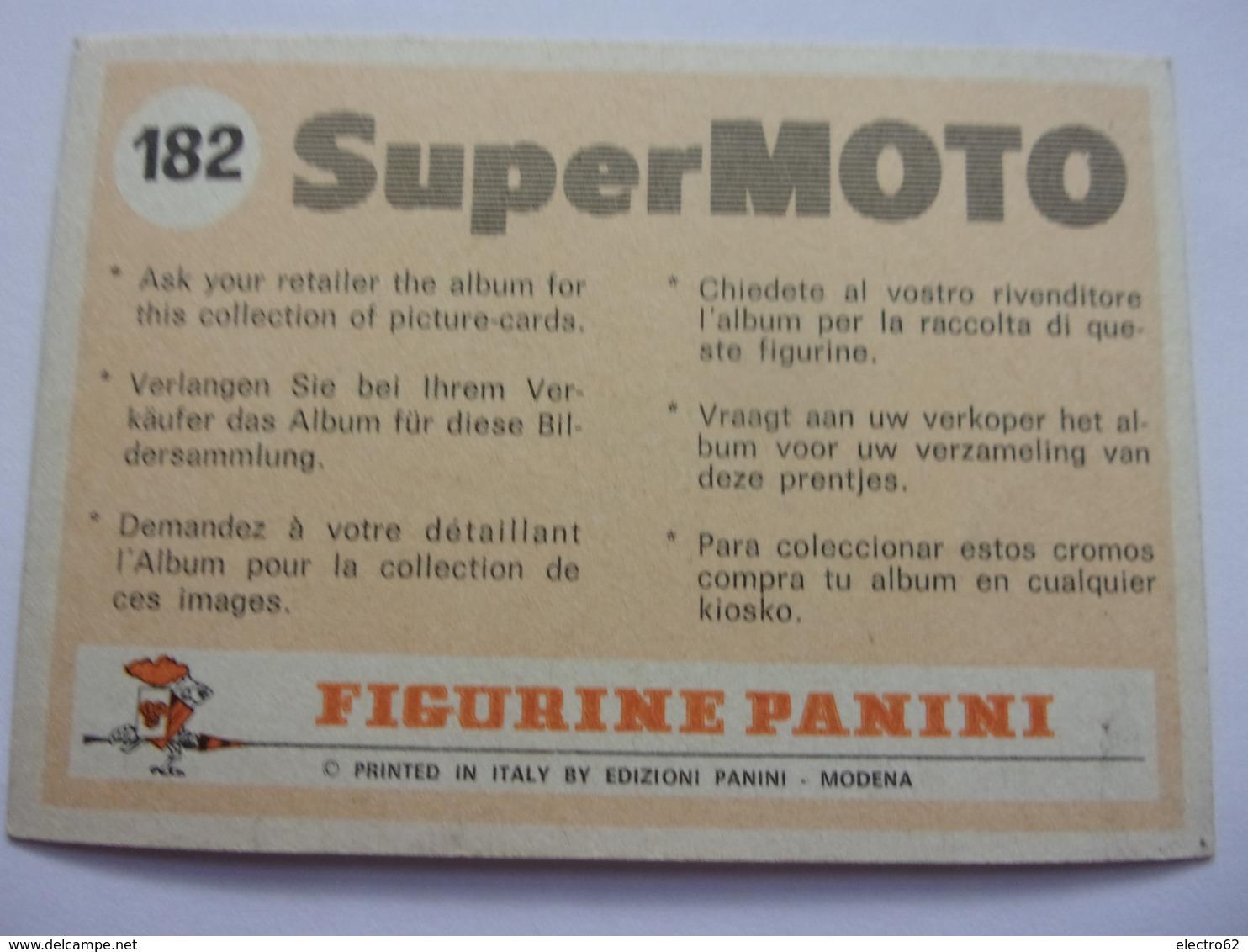 PANINI Super MOTO N°182 YAMAHA Cross MX 250 A - Panini