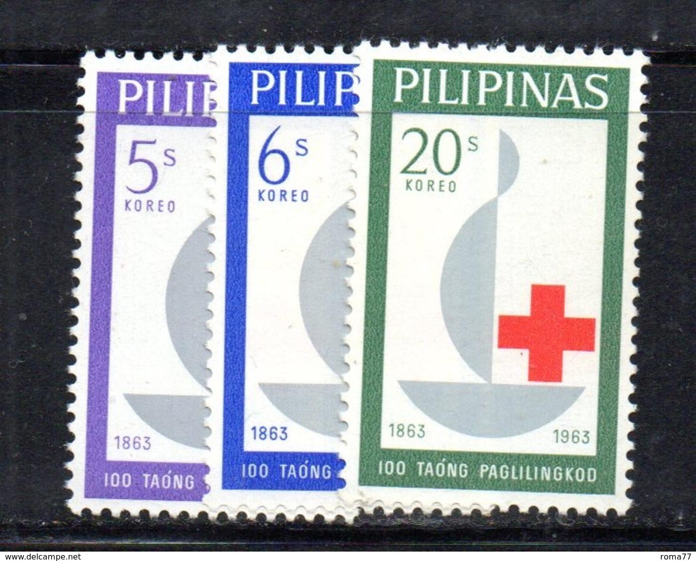APR2432 - FILIPPINE 1963 , Yvert Serie N. 570/572***  MNH (2380A)   CROCE ROSSA - Filippine