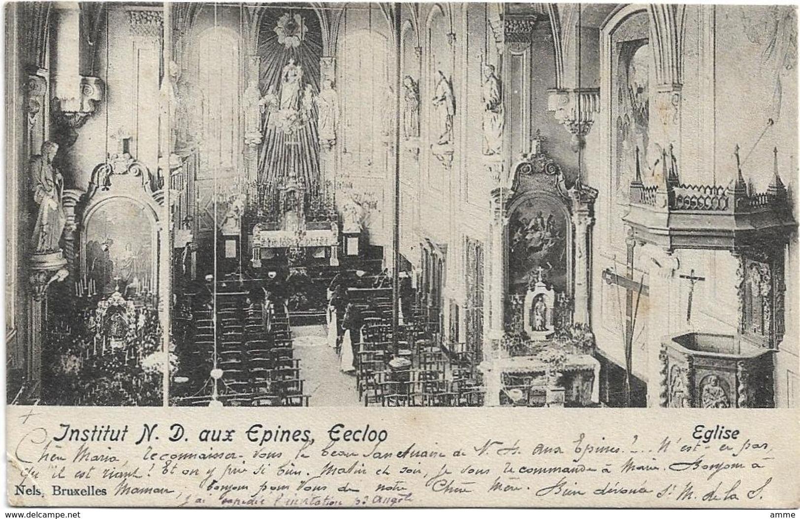 Eecloo - Eeklo  *  Institut Notre-Dame Aux Epines - Eglise  (Nels) - Eeklo