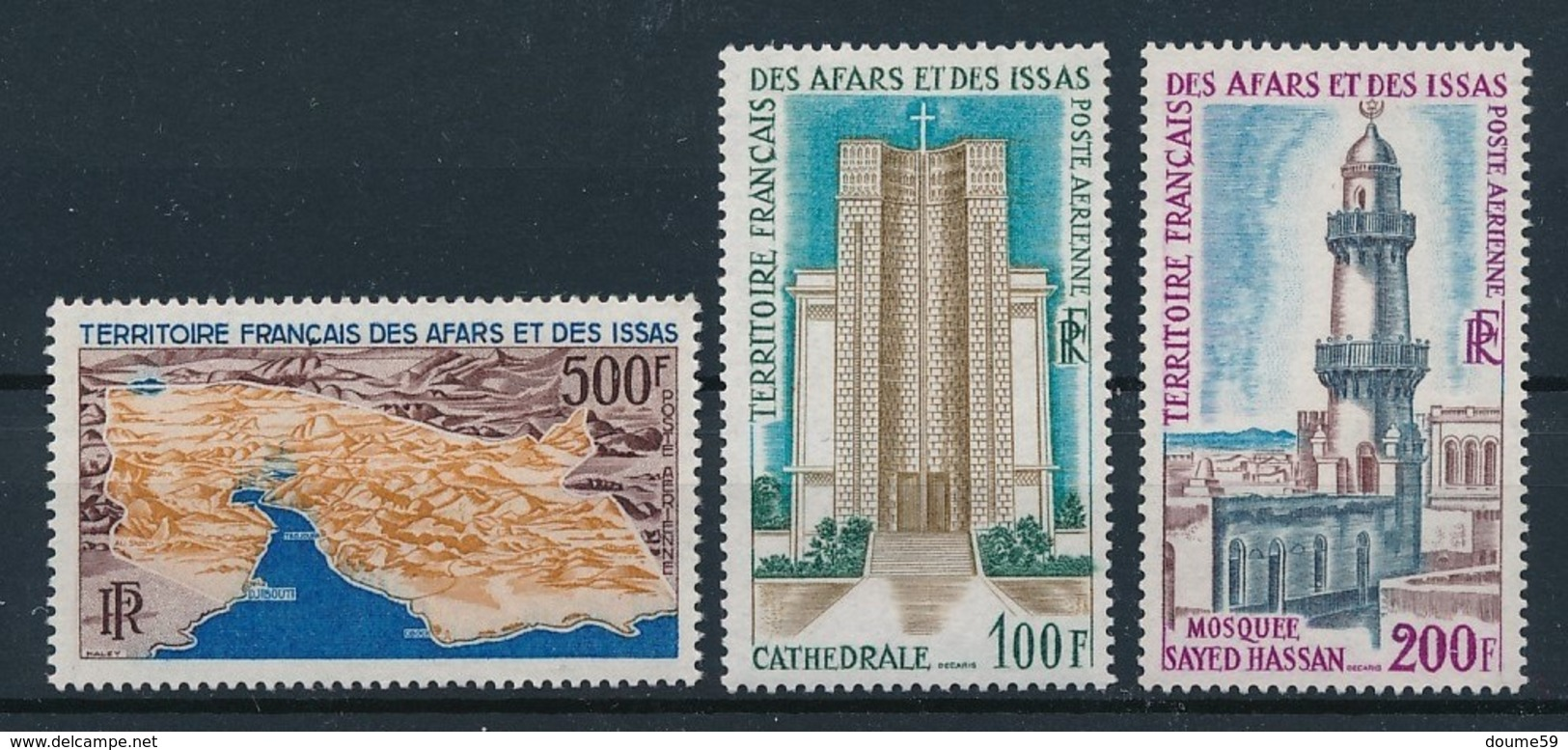 DB-51: AFARS ET ISSAS: Lot Avec PA N°59**-61**-62** - Afar- Und Issa-Territorium (1967-1977)