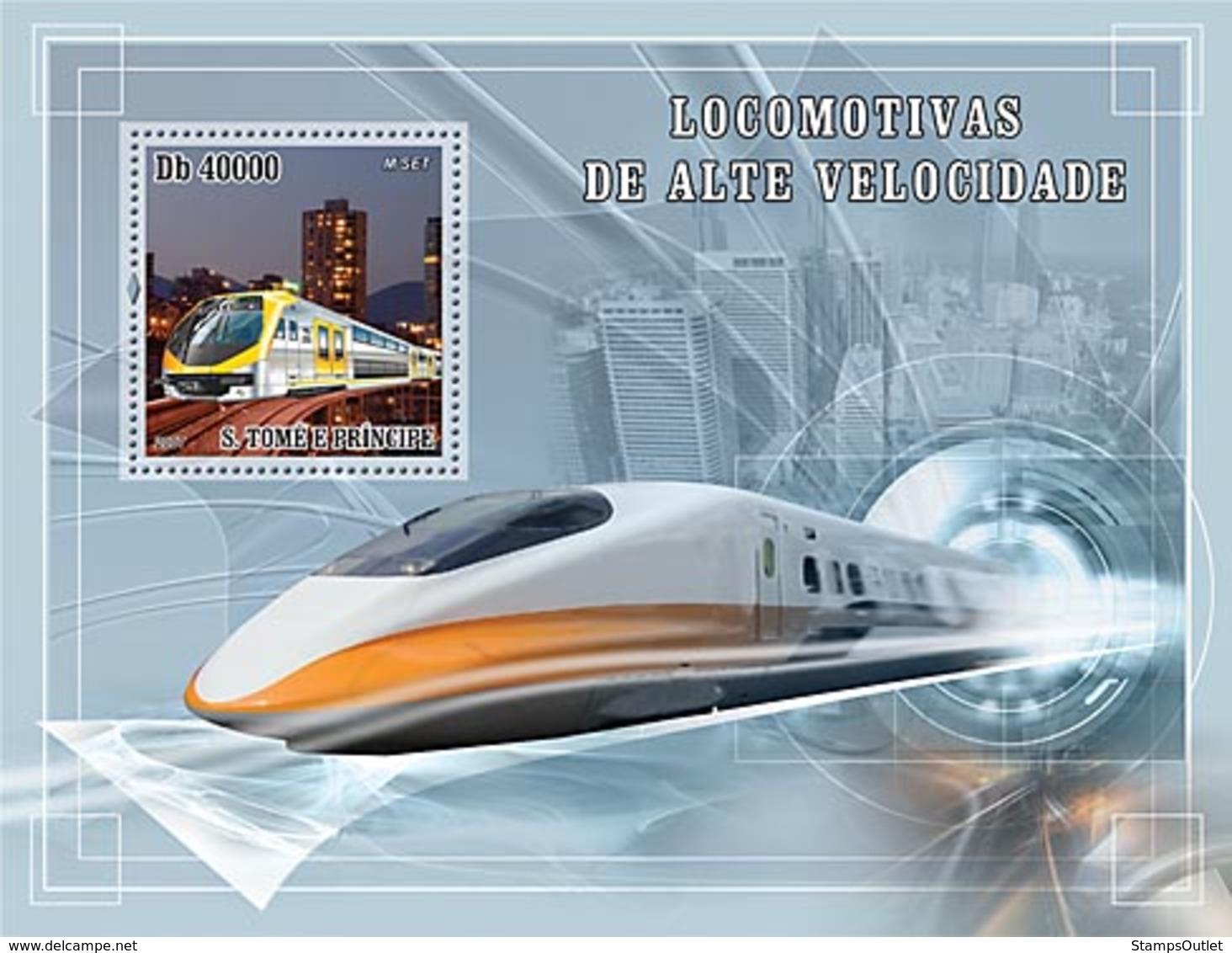 S. TOME & PRINCIPE 2007 - Speed Trains S/s - YT 407, Mi 3186/BL619 - Sao Tome En Principe